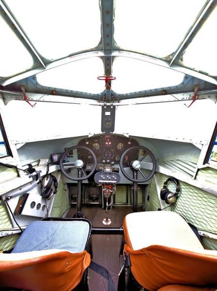 Photograph - A Spartan Cockpit by Gordon Elwell