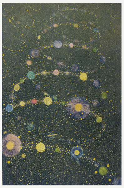 Cosmos Drawing - A Spiral Of Galaxies, Twisting by Mary Evans Picture Library