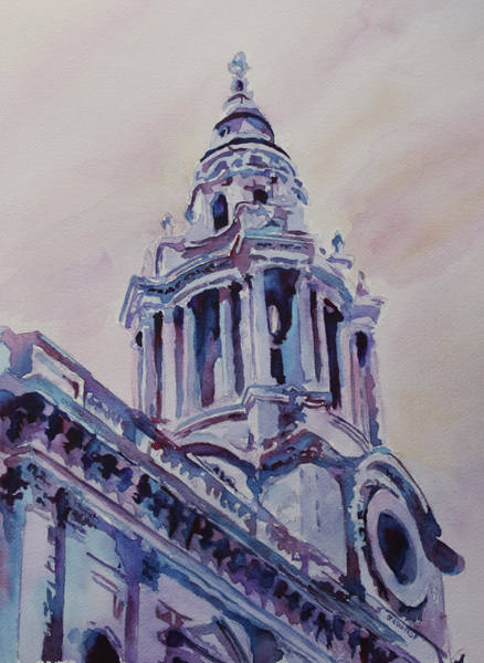 Clock Tower Painting - A Spire Of Saint Paul's by Jenny Armitage