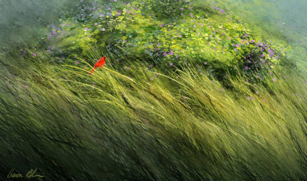 Tree Digital Art - A Spot Of Red by Aaron Blaise