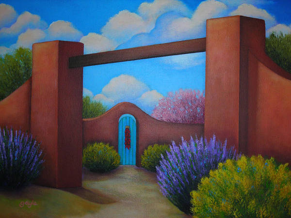 Adobe Walls Painting - A Spring To Remember by Gayle Faucette Wisbon