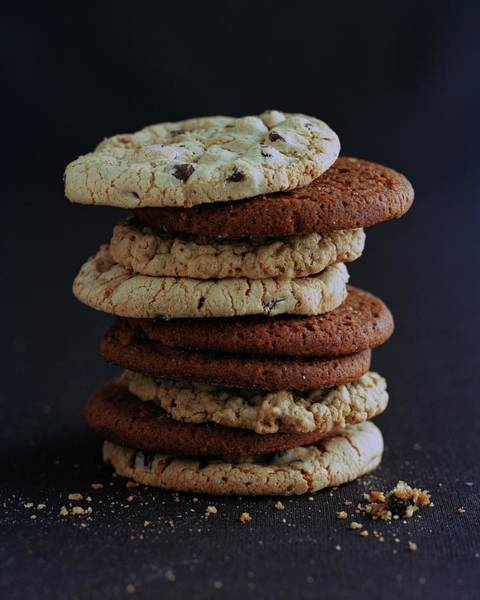 Dry Photograph - A Stack Of Cookies by Romulo Yanes