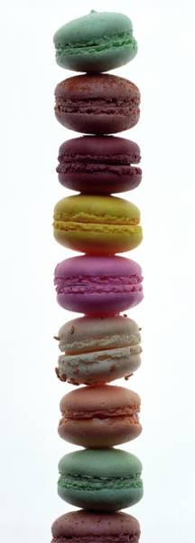 Sweet Photograph - A Stack Of Macaroons by Romulo Yanes