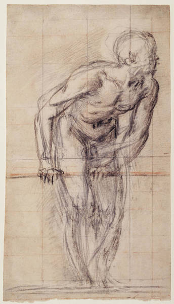 Wall Art - Drawing - A Standing Male Nude Recto,  A Standing Male Nude Verso by Litz Collection