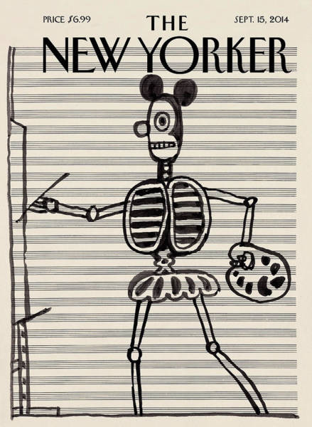 Music Painting - New Yorker September 15, 2014 by Saul Steinberg