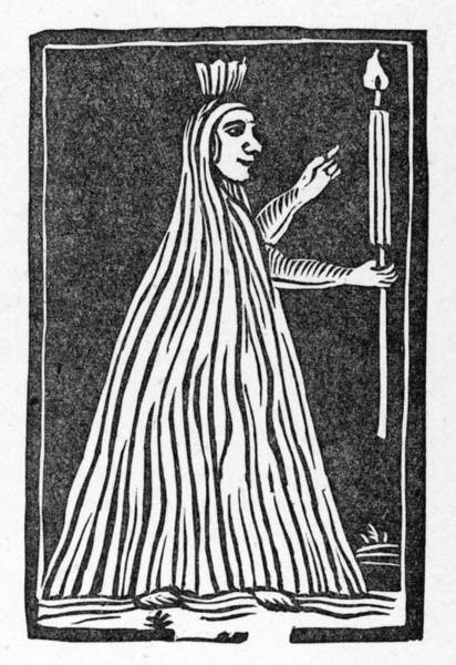 Wall Art - Drawing - A Stereotype Ghost  This  Woodcut by Mary Evans Picture Library