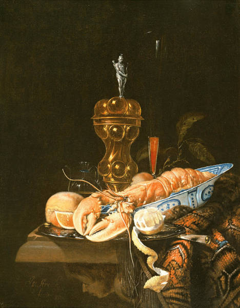 Peel Photograph - A Still Life With A Lobster In A Delft Bowl Oil by Jurian van Streeck or Streek