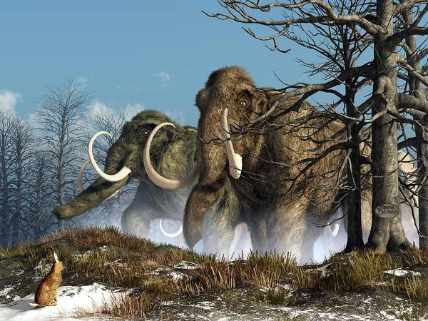 Digital Art - A Storm Of Mammoths  by Daniel Eskridge