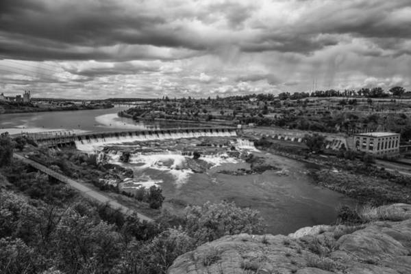A Stormy Afternoon In Great Falls Montana Art Print