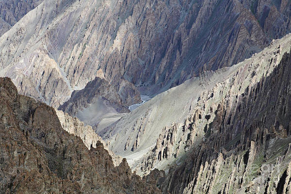 Northern India Photograph - A Stream In The Mountains Ladakh by Robert Preston