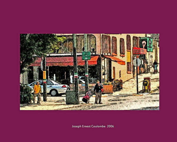 Digital Art - A Street In Frisco 2006 by Joseph Coulombe