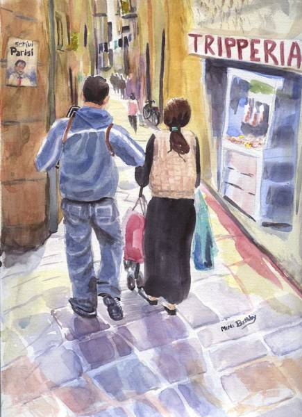 Painting - A Street In Naples by Mimi Boothby
