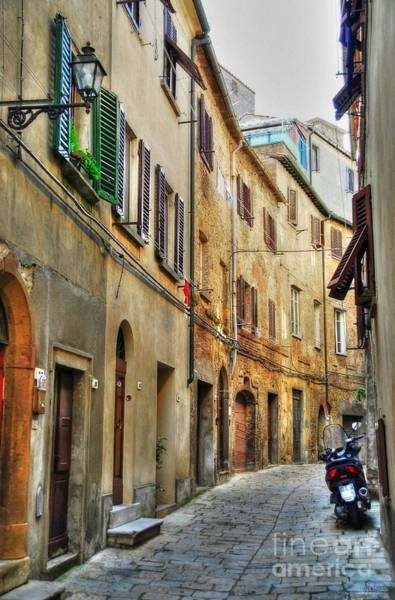Photograph - A Street In Tuscany 2 by Mel Steinhauer