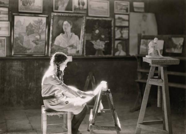 Wall Art - Photograph - A Student Works At The Bezalel School by Maynard Owen Williams