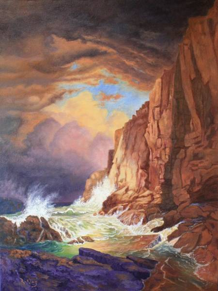 Wall Art - Painting - A Study Of William Trost Richard's Painting by Roena King