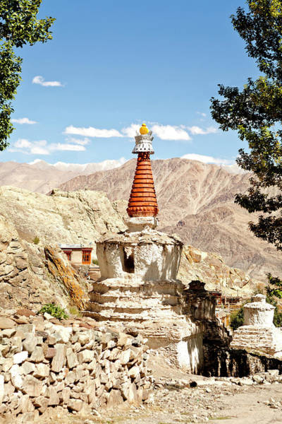 Hemi Photograph - A Stupa At Hemis Monastery In India by Kevin Kerr