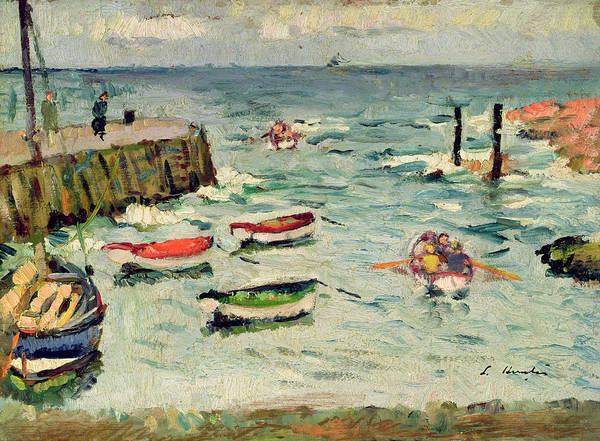Jetty Painting - A Summer Day, Largo by George Leslie Hunter