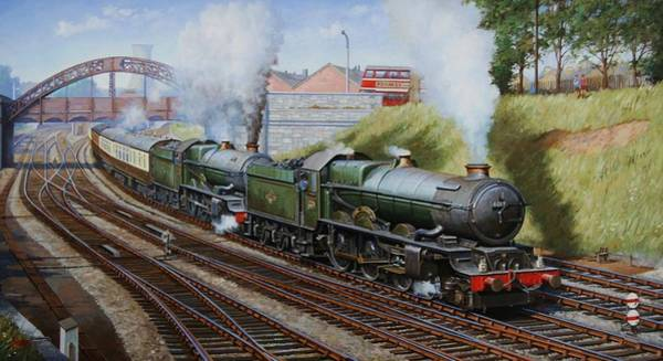 Trains Painting - A Summer Saturday In The West. by Mike Jeffries