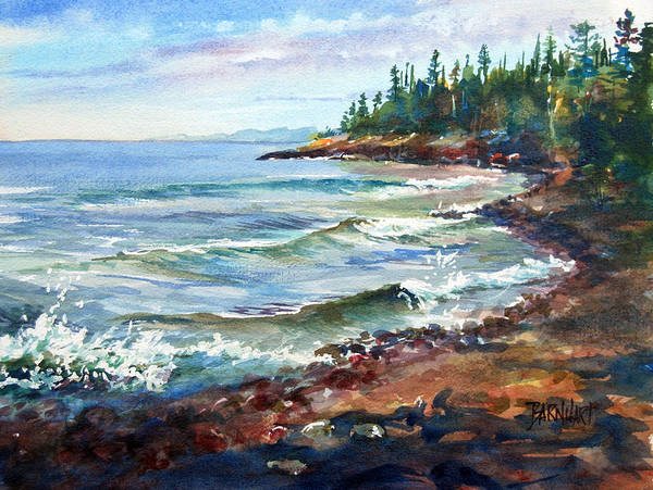 Lake Superior Wall Art - Painting - A Superior Morning by Duane Barnhart