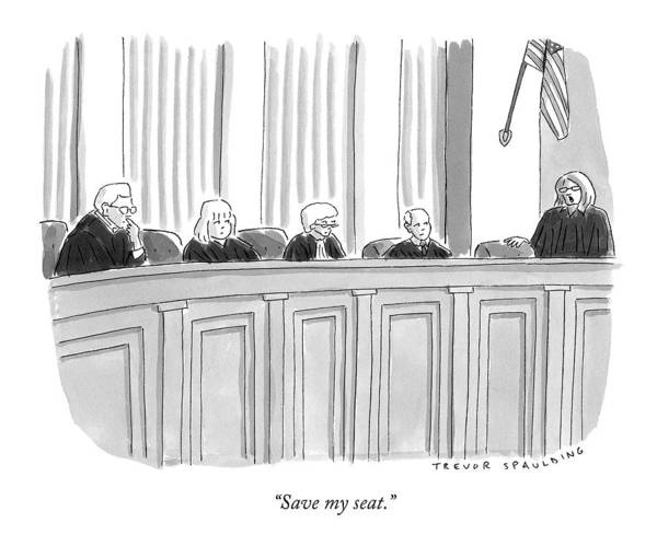 Table Drawing - A Supreme Court Judge Gets by Trevor Spaulding