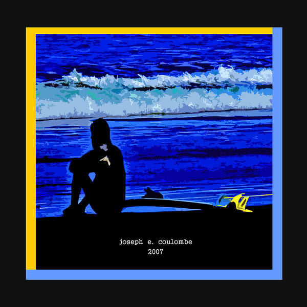 Digital Art - A Surf Board   by Joseph Coulombe
