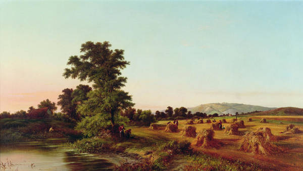 Fertility Painting - A Surrey Cornfield by Walter Williams