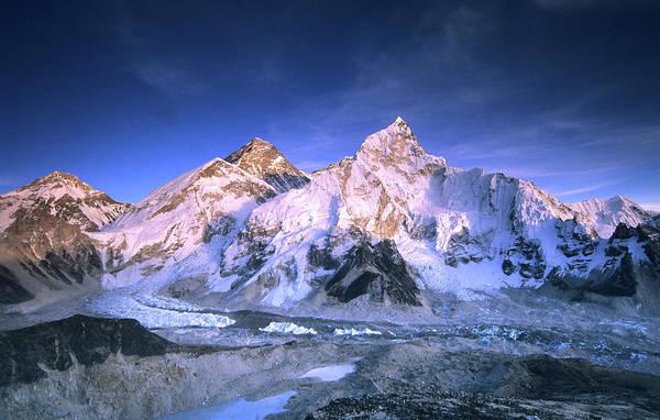 Alpen Glow Wall Art - Photograph - A Sweeping Panorama Of Mount Everest by Dan Rafla