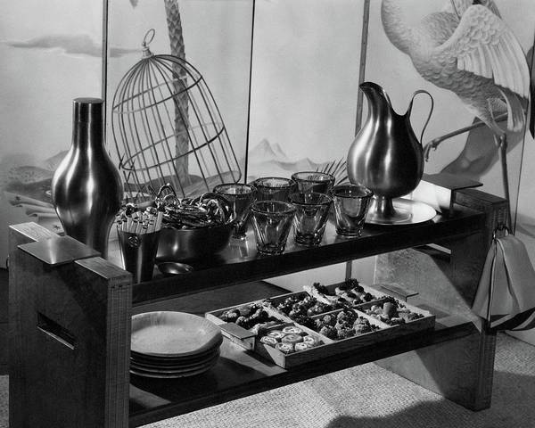 Cocktail Shaker Photograph - A Table With Tableware And Snacks by  The 3