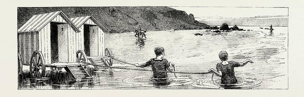 Wall Art - Drawing - A Tale Of The Sea Time And Tide Wait For No Man by English School