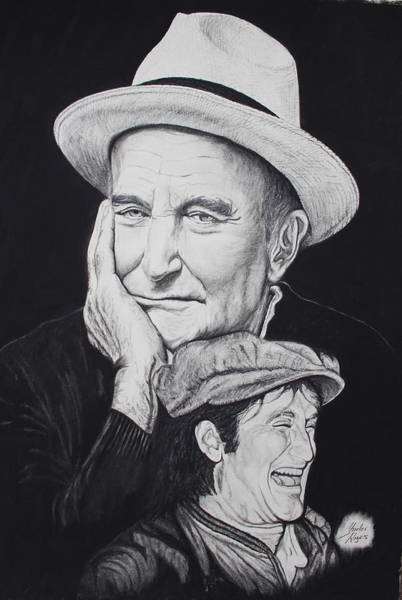 Wall Art - Drawing - A Tale Of Two Faces by Charles Rogers