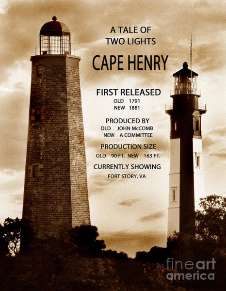 Virginia Lighthouse Photograph - A Tale Of Two Lights by Skip Willits