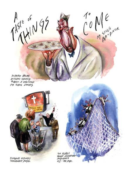 Republican Drawing - A Taste Of Things To Come by Steve Brodner