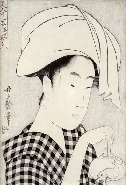 Checker Drawing - A Tea-house In Ryogoku, From The Series Bijin Juyo Ten Female Figures by Kitagawa Utamaro