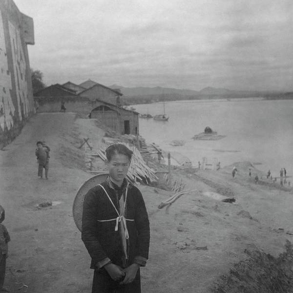 Photograph - A Teenage Boy By Min River In Sichuan by Cecil Beaton