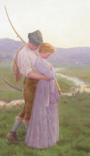 Gentle Man Wall Art - Painting - A Tender Moment by William Henry Gore