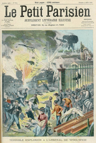 Wall Art - Drawing - A Terrible Explosion In The  Lyddite by Mary Evans Picture Library
