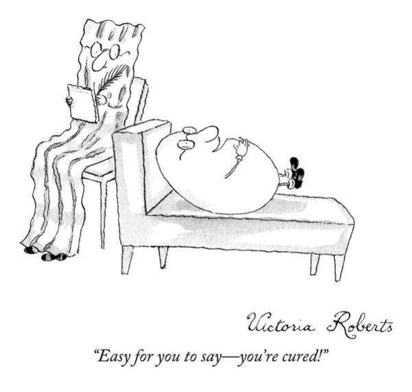 Breakfast Drawing - A Therapist Is A Piece Of Bacon And His Patient by Victoria Roberts