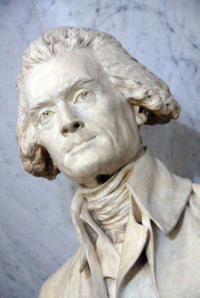 1741 Photograph - Thomas Jefferson By Jean Antoine  Houdon by Cora Wandel