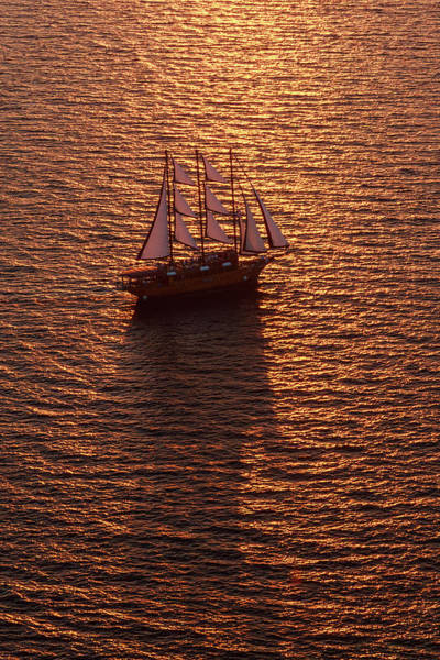 A Three-masted Sailing Ship With Full Art Print by Mint Images - Art Wolfe