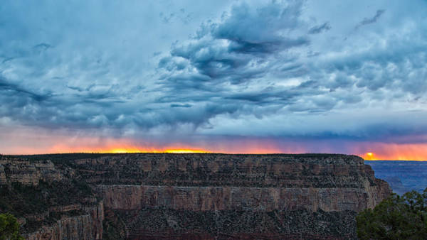 Photograph - A Three Phased Sunset At The Grand Canyon by John M Bailey