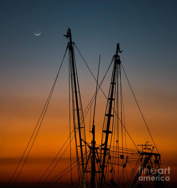 Photograph - Shrimp Boat Reaching To The Moon by Donnie Whitaker