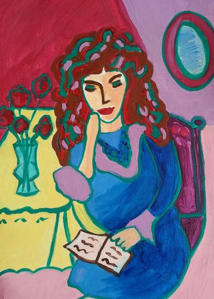 Painting - A Time To Read by Nikki Dalton