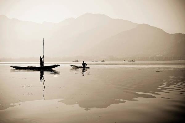 Dal Lake Photograph - A Toned Black And White Photograph by Steve MacAulay