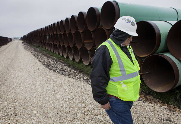 A Tour Of The Transcanada Houston Lateral Project Pipe Yard Art Print by Bloomberg