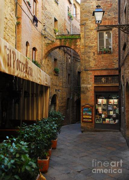Photograph - A Town In Tuscany by Mel Steinhauer
