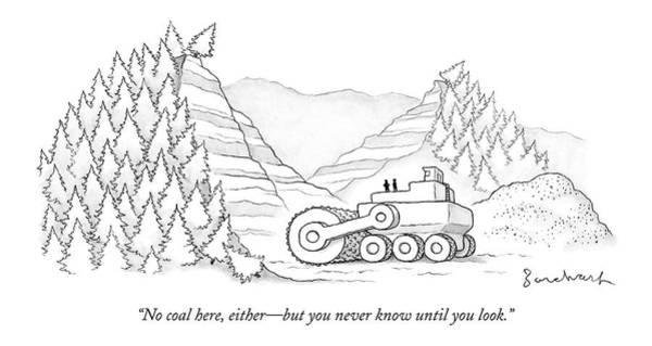 Environment Drawing - A Tractor Razes Thousands Of Trees by David Borchart