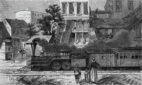 Camden Town Drawing - A Train Of The Camden & Amboy by Mary Evans Picture Library