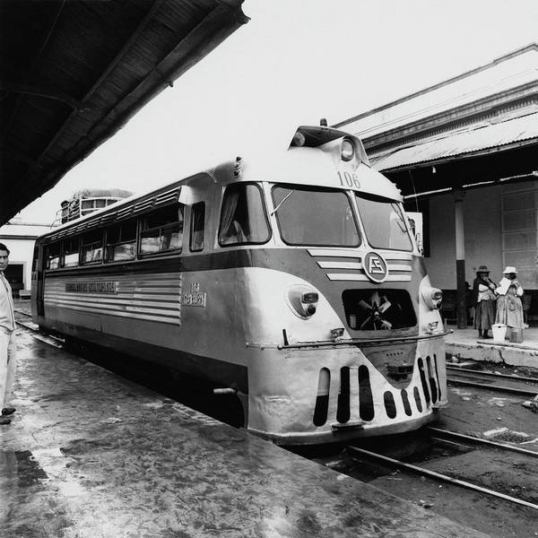 Four People Photograph - A Train Station In Ecuador by Leonard Nones
