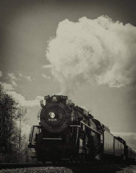 Photograph - A Trip In The Past-the 765 Steam Locomotive by Richard Kopchock