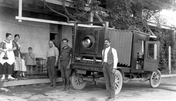 1921 Photograph - A Truck Camera by Underwood Archives